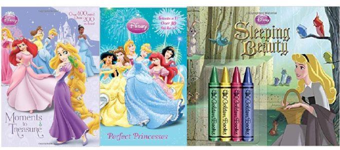 Disney Princess Coloring Books and Crayons