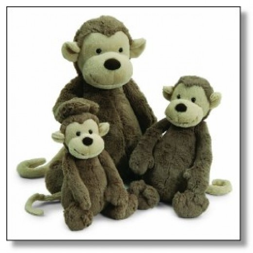 Jellycat Plush monkeys