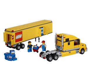 Lego semi truck trailer set
